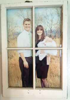 Vintage Window Pane Picture Frame adds style and interest