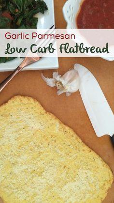 Garlic parmesan flatbread