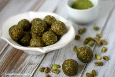 <p>These little Pistachio and Matcha Truffles are so easy to make and are loaded with lots of nutrients!</p>