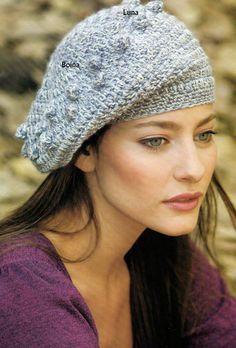 My Crochet , Mis Tejidos: Boina y su patron a seguir.