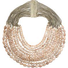 Rosantica Raissa 24-karat gold-plated heliolite bead necklace ($915) ❤ liked on Polyvore