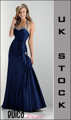 Navy blue evening prom dress ball cruise gown uk8-22 | eBay... Love this one too