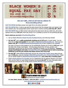 How To Know, Did You Know, How To Get, Twitter Storm, Equal Pay, July 28, White Man, Atlanta, Campaign