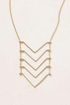 Anthropologie - Chevron Ladder Necklace