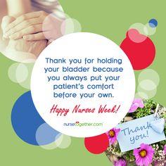 Happy Nurses Week! Happy Nurses Week, Nursing, Hold On, Naruto Sad, Breast Feeding, Nurses