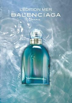 Balenciaga L'Edition Mer Perfume. Inspired by the deep ocean, this fresh and luxurious new fragrance opens with invigorating accords of bergamot, yuzu and green shiso leaf. The heart of wet lily of the valley and seashore accord is placed on the base of dry woods, sandalwood and seashell accord.