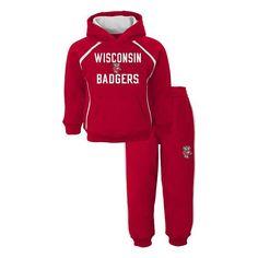 Toddler Wisconsin Badgers Classic Fleece Hoodie & Sweatpants Set, Boy's, Size: