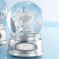 Personalized Light of God Snow Globe , Add Your Message