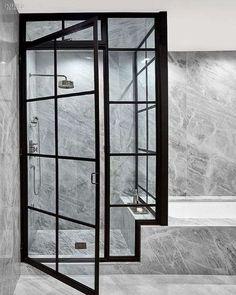 diseño de baño con azulejos modernos