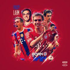 Philipp Lahm, Bayern München, sport illustration, poster, graphic, social, design, football, illustration, media, AREDI, #sportaredi
