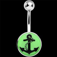 Glow in the Dark Anchor Belly Ring