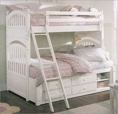 Young America by Stanley 4 Seasons Contentment Twin Over Full Bunk Bed with Optional Accessories
