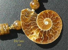 Amber and Ammonite Necklace | JEMSStones - Jewelry on ArtFire  #AFPOUNCE
