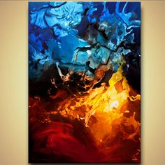 modern abstract art - Fire and Ice