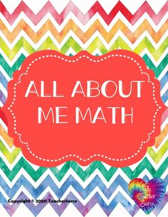 All About Me Math Activity- FREE Get To Know You Activities, Back To School Activities, Math Resources, All About Me Maths, Goal Setting For Students, Math Manipulatives, Math Projects, Classroom Community