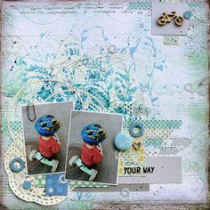 On Your Way by Riikka Kovasin for Scrap Around the World October