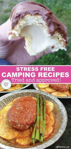 The beautiful weather is here and camping season is about to begin. Find wonderful, stress free recipes for camping food here. These recipes are tried, tested, and sure to give you delicious camping food. #camping #food #prep #campfood #dessert #recipes #smartschoolhouse