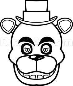 Five nights at freddys coloring pages google search fnaf five nights at freddy's 2 puppet coloring pages Puppet F-NaF Coloring Pages Five Night at Freddy's Golden Foxy Coloring Page