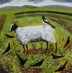 sheep and crows - Mary Sumner