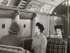 WW2 tube carriage interior with anti splinter netting, 1941