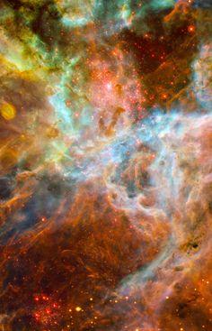 """A section of the #TarantulaNebula in the #constellationDorado | Image credit: NASA/ESO/ESA"""
