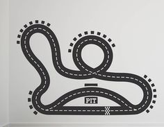 [ Racetrack Vinyl Floor Sticker Contemporary Wall Stickers Race Car Decal Sports Murals Track ] - Best Free Home Design Idea & Inspiration Floor Decal, Floor Stickers, Vinyl Wall Stickers, Car Decals, Home Design 2017, House Design, Contemporary Wall Stickers, White Kids Room, Childrens Wall Stickers