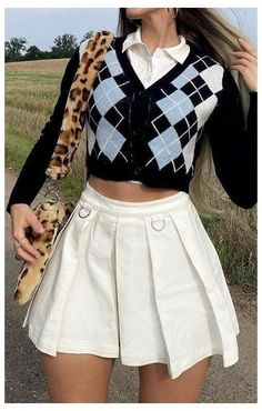 Indie Outfits, Teen Fashion Outfits, Retro Outfits, Girly Outfits, Cute Casual Outfits, Look Fashion, Stylish Outfits, Vintage Outfits, Preppy Outfits For School