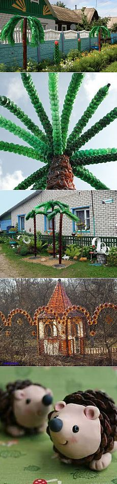 Crafts from plastic bottles for garden decor and garden: ideas, tips, and 50 photos | Garden Decor | DecorWind.ru