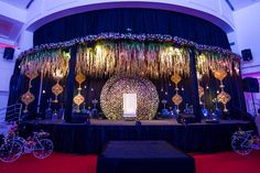 Righteous 5 star wedding see post Reception Stage Decor, Wedding Reception Backdrop, Wedding Stage Decorations, Engagement Decorations, Event Decor, Hall Decorations, Indian Wedding Receptions, Luxury Wedding Venues, Wedding Events
