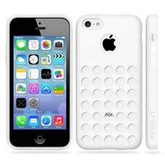 Minisuit TPU Holes Design Case Cover for iPhone 5C (White)
