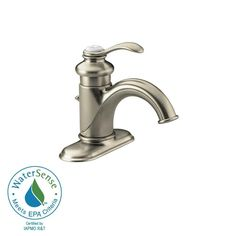 Option For A Single Hole Bathroom Faucet Its Transitional Style - Kohler fairfax single hole bathroom faucet