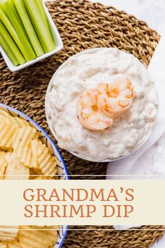 Grandma's Shrimp Dip is a huge family favorite passed down through the generations- it's quick and easy to throw together and everyone always begs for the recipe! Perfect for the holidays! Crab Dip Recipes, Potluck Recipes, Shrimp Dip, Chops Recipe, Appetizer Dips, How To Make Cake, Low Carb Recipes, Food And Drink