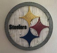 Pittsburgh steelers wood sign steelers wall art steelers