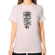 Technicolor Unisex T-Shirt (on woman)