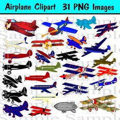 Airplane Clipart INSTANT DOWNLOAD for Digital by BridalBust