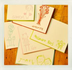 letterpress cards of kid's drawings. sweet. will have to wait until bean is a bit older! Drawing For Kids, Art For Kids, Kid Art, Craft Activities For Kids, Crafts For Kids, Craft Gifts, Diy Gifts, Kids Artwork, Kids Corner