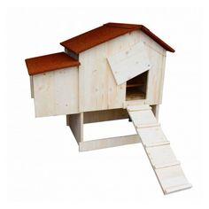Der Trio Modell ist unser erster Holz Hühnerstall der einen außen Schutzraum, für Ihre Hühner und eine Drehtür anbietet, im Vergleich zu unseren Modellen und LINA und LINA +.