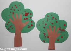 "Fingerprint Apple Tree - door decor we will do this tomorrow for our ""outside""…"