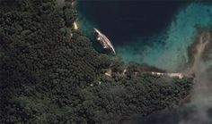 There's a Creepy Wrecked Cruise Ship on Google Maps