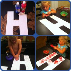 Letter H craft. Letter H Activities For Preschool, Preschool Lessons, Alphabet Activities, Preschool Activities, Letters For Kids, Alphabet For Kids, Letter School, Alphabet Letter Crafts, Jolly Phonics