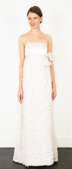thread mcclean dress.  empire wasted with organza sash. $775