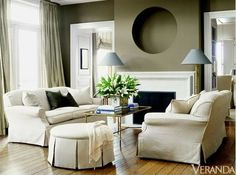 Army Green Living Room