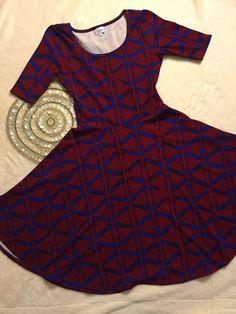 LuLaRoe Womens Nicole Dress, Size M, Red Blue UNICORN   | eBay