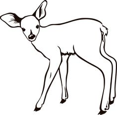 Fawn outline - Free , Clip art by molumen and more and are constantly expanding our content with exclusive files. Deer Outline, Animal Outline, Fawn Tattoo, Deer Tattoo, Deer Coloring Pages, Turtle Images, Simple Wood Carving, Animal Templates, Outline Drawings