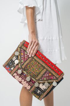 BOHO CLUTCH Boho necklace, boho jewelry, hippie jewelry, ethnic jewelry, bohemian style accessories, colorful jewelry, colorful hippie necklace Indie Pouch