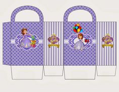 Sofia the First in Purple: Free Printable Candy Paper Bag.