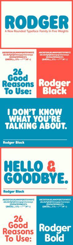 Rodger - Desktop Font & WebFont - YouWorkForThem