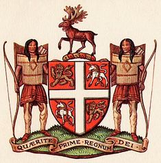 Coat of arms of Newfoundland and Labrador, Canada. Newfoundland Canada, Newfoundland And Labrador, Beautiful Sites, Beautiful Islands, Canadian Culture, Vancouver Travel, Canadian Rockies, Quebec City, Crests