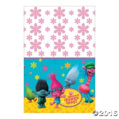 DreamWorks Trolls Tablecloth Oriental Trading