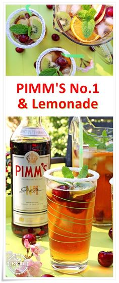 Pimm's No.1 & Lemonade - my take on a classic! There's nothing more British in summer than this classic cocktail!